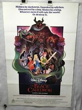 1985 The Black Cauldron Original 1SH Walt Disney Movie Poster 27 x 41