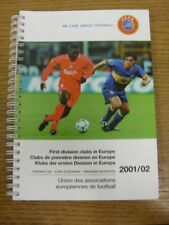 2001/2002 UEFA: First Division clubs In Europe - Official Address List, Binder B