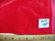 Red Chenille Nylon Fabric / Upholstery Fabric 1 Yard R121