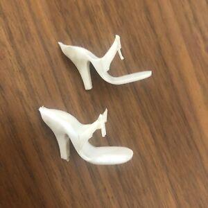 Vintage 10 1/2 Fashion Doll White Open Toe Heels Little Miss Revlon Etc