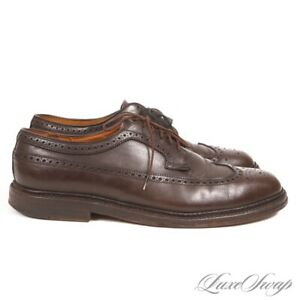 #1 MENSWEAR Alden Made in USA 97952 Espresso Leather Wingtip Longwing Shoes 10