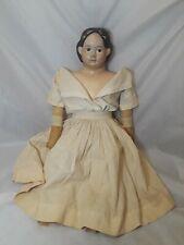 "Antique Composition/Papier Mache Greiner's Doll 30"" Tall 1858"