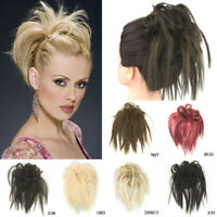 Women Hair Ring Ponytail Cover Elastic Wig Hair Piece Messy Hair Extensions