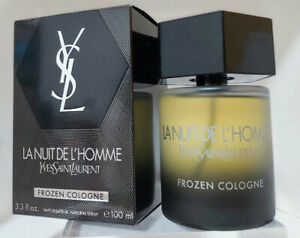 """❤️La Nuit De L'Homme FROZEN COLOGNE 3.4oz 100ml,2012"""",YVES SAINT LAURENT,YSL"""