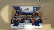 2003 Prestige Backfield Tandems #BT19 Kurt Warner/Marshall Faulk Jsy/400