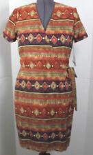 J Stevens Vintage Career Women's Dress Southwest Tribal 10 P 100% Polyester USA