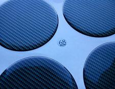 (3D 68C) Carbon Lock Embleme für Nabenkappen Felgendeckel 68mm Silikon Aufkleber