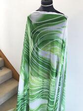 Vibrant Graphic Abstract Geometric Print Washed Chiffon Dressmaking Fabric 1.7m