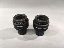 Pair Zeiss E Pl 10x 20 Goggles Glasses Microscope Eyepieces 44 42 32