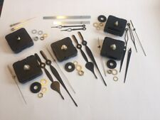 QTY 5 NEW BATTERY OPERATED QUARTZ CLOCK STEP MOVEMENTS, with FREE SHIPPING!