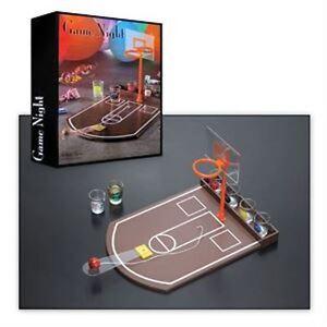 NeW. Game Night Basketball Shot Game. 7 pc Game. Shoot a Hoop, Skull A Shot.