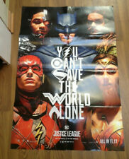 JUSTICE LEAGUE MOVIE POSTER 27 x 40 inches Folded, Double Sided