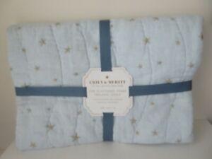 POTTERY BARN KIDS BLUE Emily & Meritt Scattered Stars Baby Toddler Bedding Quilt