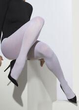 Ladies 60's Fancy Dress White Tights