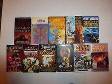 Lot of 11 Science Fiction,Peter Hamilton,Star Wars,Ted Dekker,Anne McCaffrey+S2