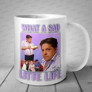 What a sad little life jane Meme funny Mug come dine with me Xmas Christmas Cup