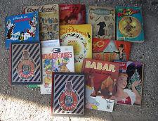 Lot de 14 livres pour enfants Babar Astérix Lisette Picsou coq hardi