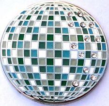 Disco Ball Golf Ball Marker with Crystals - Package of 2