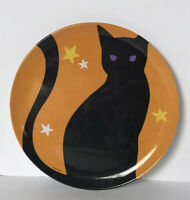 Halloween Cat Kitty Zak Designs Melamine Plate Boo