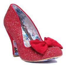 Irregular Choice Nick of Time Womens Glitter Shoes Size UK 4 Red EU 39
