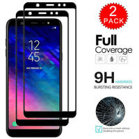 For Samsung Galaxy A6 / A6 Plus - FULL COVER 9D Tempered Glass Screen Protector