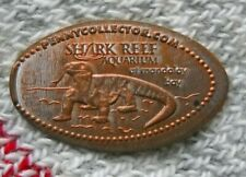 Shark Reef Aquarium elongated penny Las Vegas USA cent Komodo Dragon coin