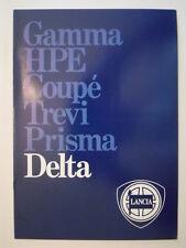 LANCIA Delta Gama Orig 1982 1983 Reino Unido Mkt folleto de ventas-GT 1600 1500 Auto 1300