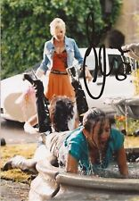 HOLLYOAKS: CLAIRE COOPER 'JACQUI' SIGNED 6x4 ACTION PHOTO+COA