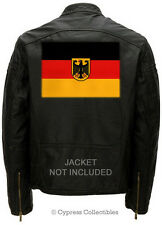 LARGE GERMANY EMBROIDERED FLAG PATCH IRON-ON GERMAN Aufnäher Deutschland EAGLE