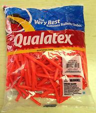 Qualatex Neon Orange 260Q Entertainer Balloons ~100 ct. **FREE SHIPPING**