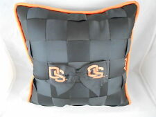 OREGON STATE BEAVERS PILLOW W/ RIBBON WOVEN FRONT BY TESSUTA NCAA 10 in.X10 in.