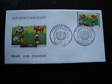 MADAGASCAR - enveloppe 11/12/71 - unicef - yt n° 495 - (cy4)