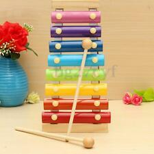 8 Key Note Aluminum Wooden Piano Xylophone Musical Instrument Kids Xmas Gift Toy