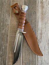 "12"" Elk Ridge Wood Hunting Skinning Survival Fixed Blade Full Tang Sheath 047"