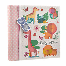 Baby Girls Pink Slip In Case Memo Photo Album 4 x 6'' For 200 Photos BA-1634