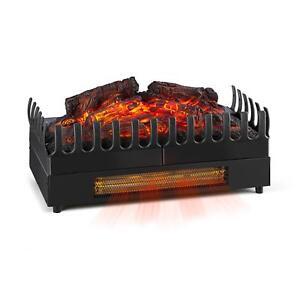 [RECONN.] Cheminée électrique simulation feu - chauffage 2000W éclairage d'ambi