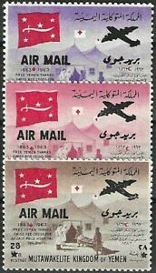 """1964 """"Yemen-North"""" Red Cross, Air-Mail-Issues VF/MNH! CAT 56$ LOOK!!"""
