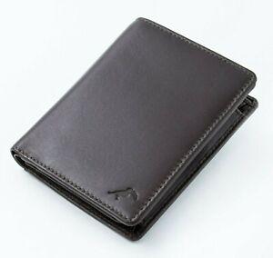 Porte-cartes, Mini-Portefeuille avec Porte-monnaie cuir marron RFID Homme Femme