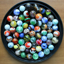 Mixed Lot of 64 Assorted Marbles Antique Vintage German Handmade Glass
