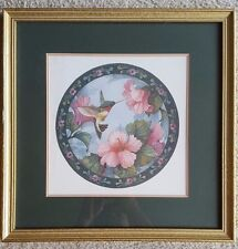 Bird and flower painting drawing with wall hanging frame