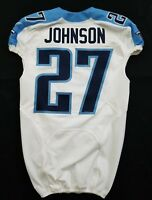 #27 Johnson of Tennessee Titans NFL Locker Room Game Issued Jersey
