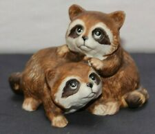 Homco Home Interiors Ceramic Animals - Baby Raccoons #1454
