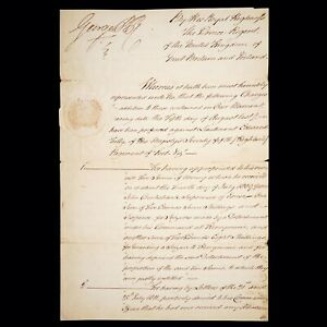 King England Signed Royalty Document George IV Autograph Manuscript Letter Seal