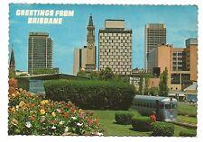 QLD - c1970s POSTCARD - CITY SKYLINE, BRISBANE, QUEENSLAND