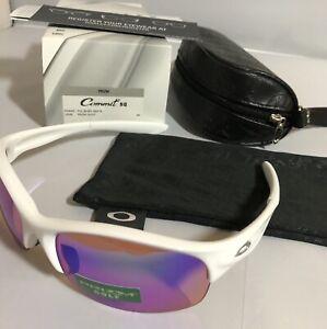 New Oakley Commit SQ Sunglasses Womens Sport Polished White W/ Prizm Golf Lens