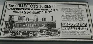 BACKWOODS MINIATURES NARROW GAUGE 009 SCALE ENGINE KIT ANDREW BARCLAY 0-6-2T