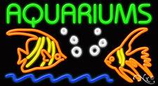 "NEW ""AQUARIUMS"" 37x20x3 W/LOGO NEON SIGN w/CUSTOM OPTIONS 10447"