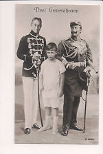 Vintage Postcard Kaiser Wilhelm II, German Emperor Crown Prince & Son