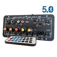 """AU Digital Bluetooth Stereo Amplifier Board Microphone Karaoke For 8-12"""" Speaker"""