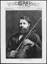 1877 Antiguo Joseph Joachim impresión Herr Doctor Music Cambridge University (159)